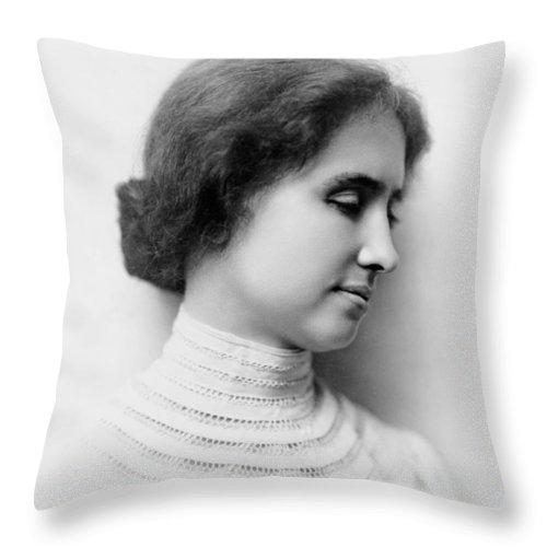 Helen Keller Throw Pillow featuring the photograph Helen Keller by Mountain Dreams