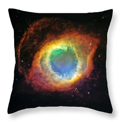 Universe Throw Pillow featuring the photograph Helix Nebula 2 by Jennifer Rondinelli Reilly - Fine Art Photography