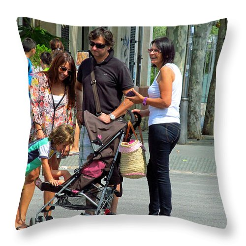 Conversation Throw Pillow featuring the photograph Hello Baby Life Is Good by Tina M Wenger