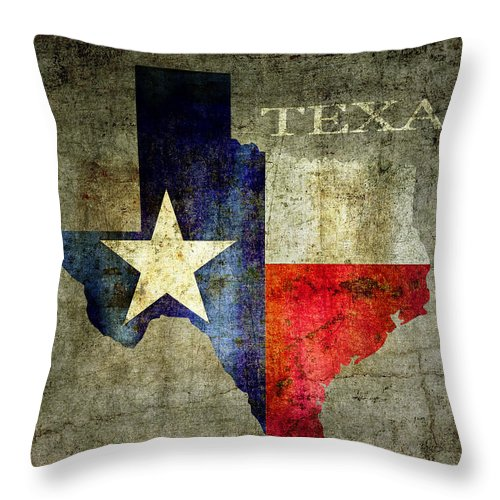 Texas Throw Pillow featuring the digital art Hello Texas by Daniel Hagerman