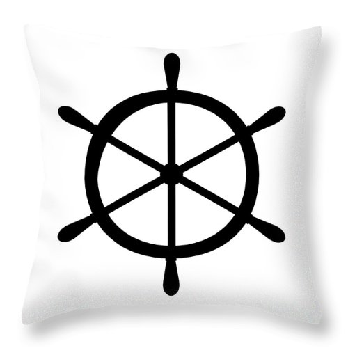 Graphic Art Throw Pillow featuring the digital art Helm In Black And White by Jackie Farnsworth