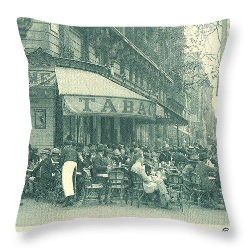 Paris 1925 Throw Pillow featuring the photograph Hemingway's Paris 1925 by Ira Shander