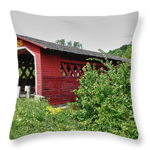Bennington Throw Pillow featuring the photograph Henry Bridge 5797 by Guy Whiteley