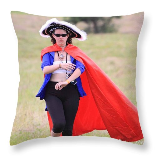 Her Way Rw2k14 Throw Pillow featuring the photograph Her Way Rw2k14 by PJQandFriends Photography