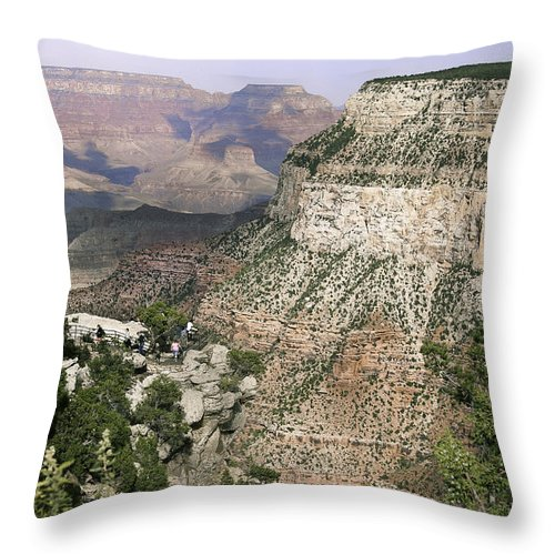 Angel Throw Pillow featuring the photograph Hermit Rd by Bob and Nadine Johnston