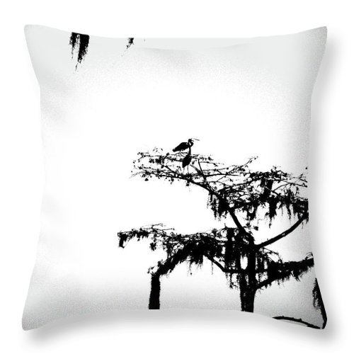 Herons Throw Pillow featuring the digital art Herons by Lizi Beard-Ward