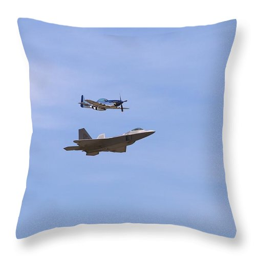 4826 Throw Pillow featuring the photograph Herritage Flight Formation by Gordon Elwell