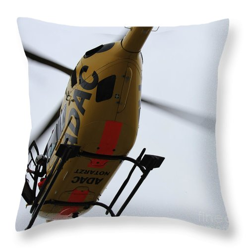 Helicopter Throw Pillow featuring the photograph Hi There by Four Hands Art