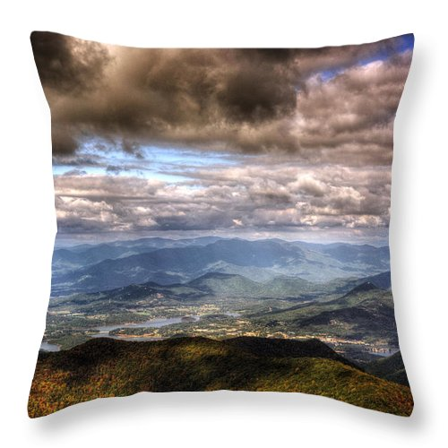 Hiawassee Throw Pillow featuring the photograph Hiawassee Georgia by Chrystal Mimbs