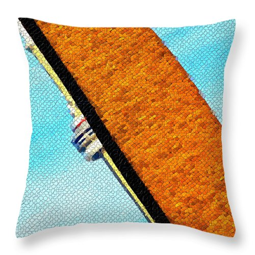 Tower Throw Pillow featuring the photograph Hidden And Falling Tiled Version by Valentino Visentini