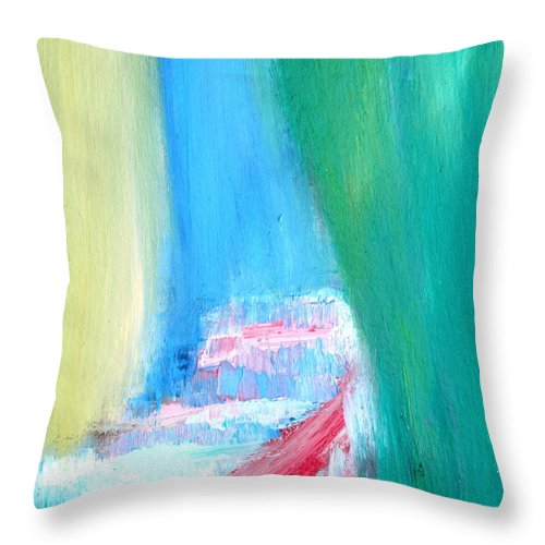 Secret Throw Pillow featuring the painting Hidden by Fabrizio Cassetta