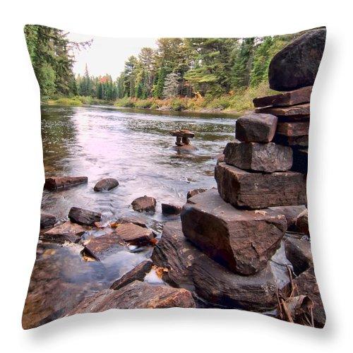 Can Throw Pillow featuring the photograph Hidden Fisherman by James Wheeler