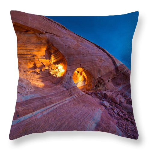 Fire Throw Pillow featuring the photograph Hidden Light by Chad Dutson