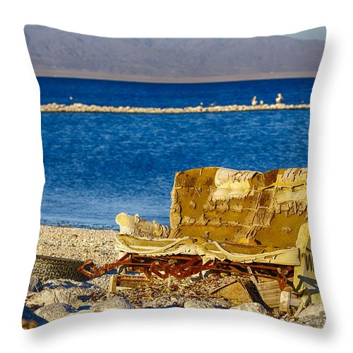 Hide A Bed Throw Pillow featuring the photograph Hide A Bed For Sale by Scott Campbell