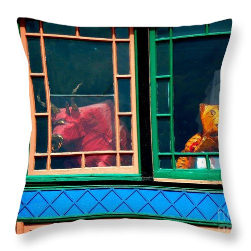 Newel Hunter Throw Pillow featuring the photograph Hiding In Plain Sight by Newel Hunter