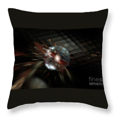 Peter R Nicholls Abstract Fine Artist Canada Throw Pillow featuring the digital art Higgs Boson by Peter R Nicholls
