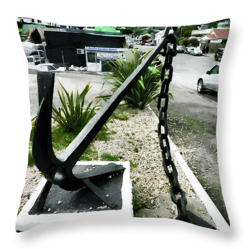 Anchor Throw Pillow featuring the photograph High And Dry by Steve Taylor