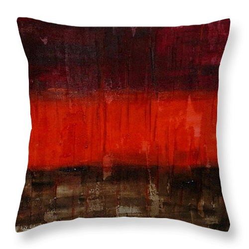 Abstract Throw Pillow featuring the painting High Energy by Silvana Abel