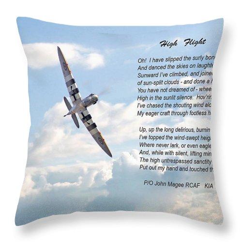 Aircraft Throw Pillow featuring the digital art High Flight by Pat Speirs