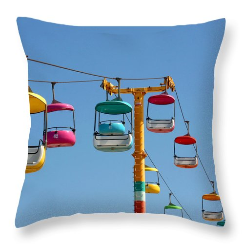 Santa Cruz Throw Pillow featuring the photograph High Flying by Art Block Collections