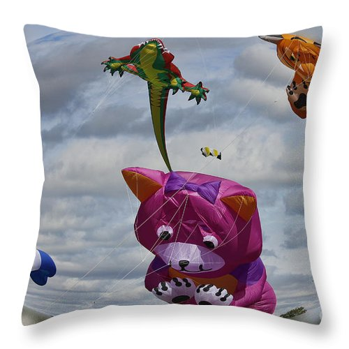 Clare Bambers Throw Pillow featuring the photograph High In The Sky by Clare Bambers