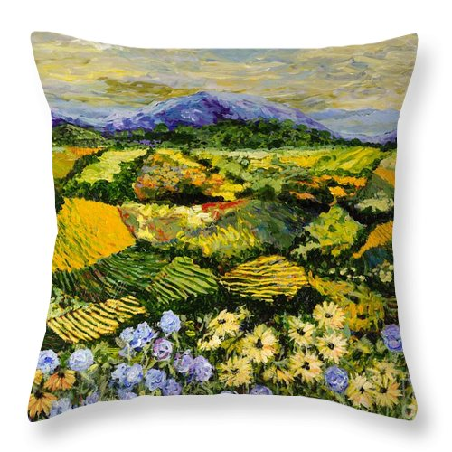 Landscape Throw Pillow featuring the painting High Journey by Allan P Friedlander