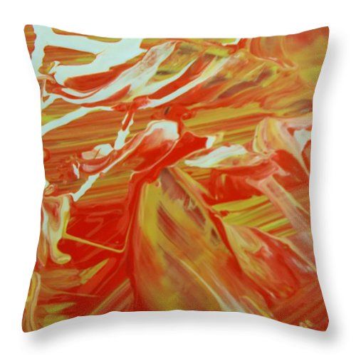 Original Throw Pillow featuring the painting High Plains by Artist Ai