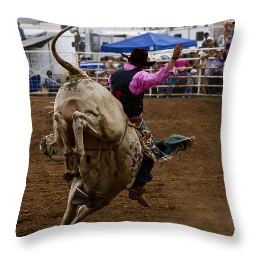 Rodeo Throw Pillow featuring the photograph High Steppin by Patrick Moore