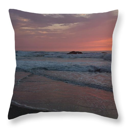 Pink Throw Pillow featuring the photograph High Tide by Heidi Smith