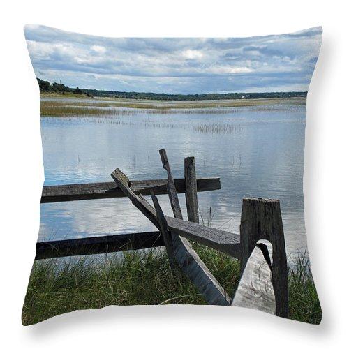 Marsh Throw Pillow featuring the photograph High Tide Lieutenant Island Marsh by Barbara McDevitt