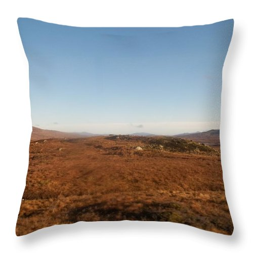Scotland Throw Pillow featuring the photograph Highland Countryside by James Potts
