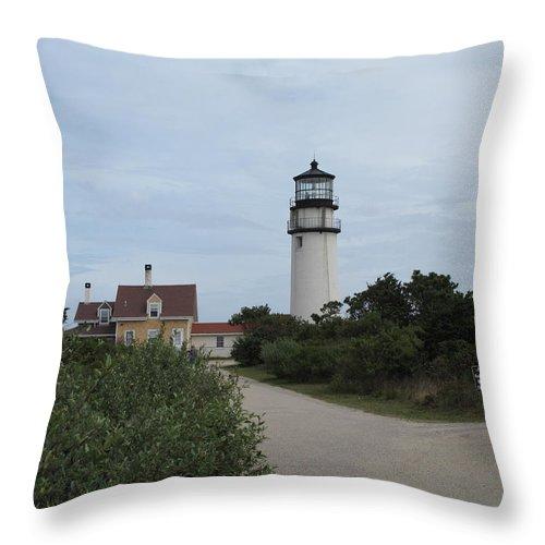 Lighthouse Throw Pillow featuring the photograph Highland Light Aka Cape Cod Light by Barbara McDevitt