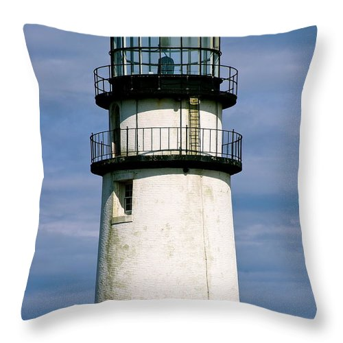 Highland Lighthouse Throw Pillow featuring the photograph Highland Light Sentinel To The Sea  by Ira Shander