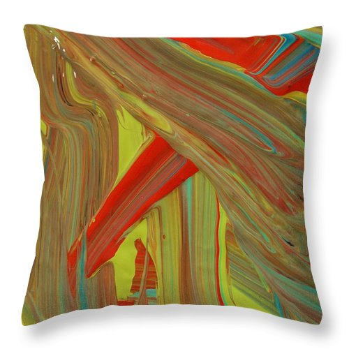 Original Throw Pillow featuring the painting Highway To Abstraction by Artist Ai