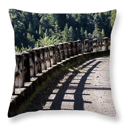 Abandoned Throw Pillow featuring the photograph Highway To Nowhere by Betty Depee