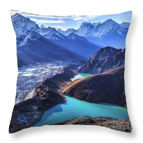 Tranquility Throw Pillow featuring the photograph Himalaya Landscape, Gokyo Ri by Feng Wei Photography