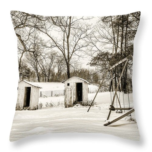 Landscape Throw Pillow featuring the photograph His And Hers by Chris Bordeleau