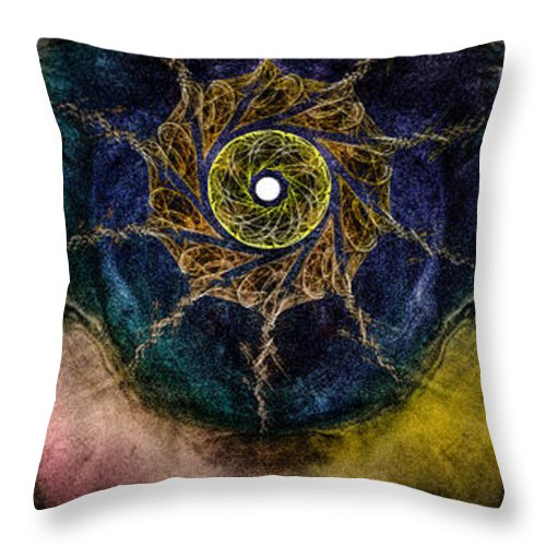 Conaway Throw Pillow featuring the mixed media First Prayer by John Conaway