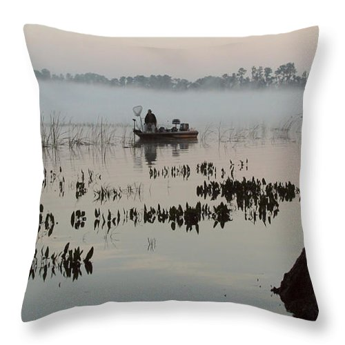 Landscape Throw Pillow featuring the photograph His Time by Peg Urban