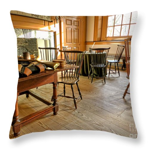 Philadelphia Throw Pillow featuring the photograph Historic Assembly Chamber by Olivier Le Queinec