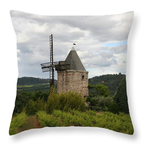 Mill Throw Pillow featuring the photograph Historic Windmill by Christiane Schulze Art And Photography