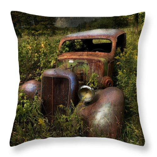 Evie Throw Pillow featuring the photograph Historical Journey by Evie Carrier