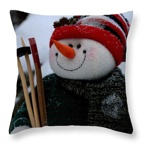 New England Throw Pillow featuring the photograph Hitting The Slopes by Caroline Stella