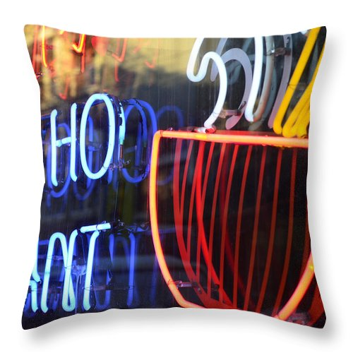 Vancouver Throw Pillow featuring the photograph Ho Pants by The Artist Project