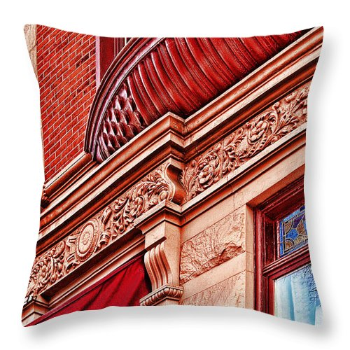Hoboken Brownstones Throw Pillow featuring the photograph Hoboken Brownstone Art by Regina Geoghan