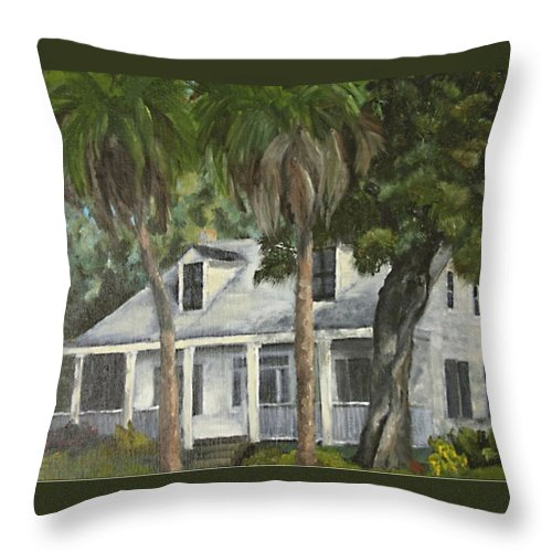 Florida Throw Pillow featuring the painting Hoffman House by Susan Richardson