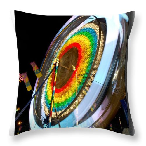 Midway Throw Pillow featuring the photograph Hold On by Randy Giesbrecht