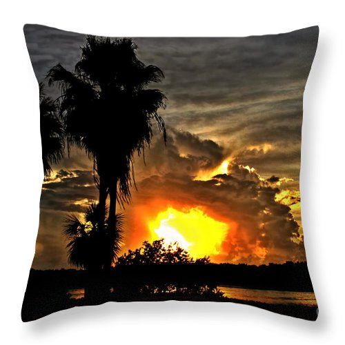 Sunsets Throw Pillow featuring the photograph Hole In The Sky by Richard Gripp