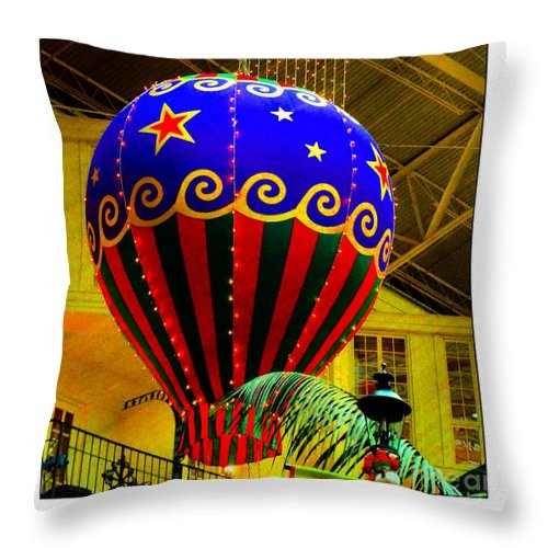 Holiday Throw Pillow featuring the photograph Holiday Delight by Kathleen Struckle