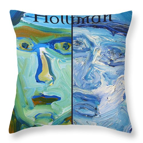 Design Throw Pillow featuring the painting Holliman by Shea Holliman